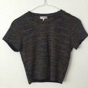 Urban Outfitters Rainbow Crop